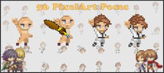 Pixel Character Template Complete Platform Template Mobile 56 Poses Pixel Art By Kingabe