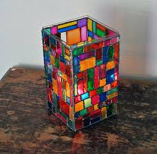 faux stained glass mosaic luminary 04
