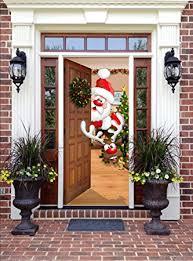 front door decorationAmazoncom  Christmas Front Door Decor  Santa and Rudolph