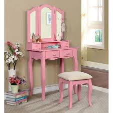 Makeup Table Amazoncom 1perfectchoice Janelle Vanity Makeup Table Set Tri