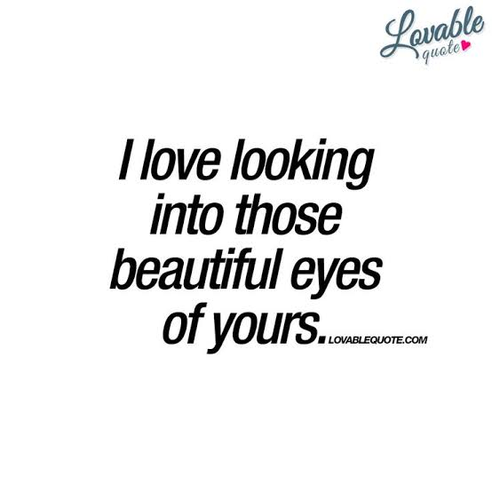 romantic quotes on eyes