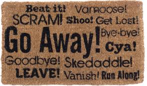 Attractive Go Away Welcome Mat Synonym Coco N More C O D R M A T G W Y Cat  Doormat Sign Amazon Grumpy Bear You Re Not Home