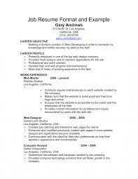 Resume Examples For Jobs 100 Simple resume example for jobs cooperative marevinho 61