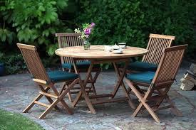 teak garden dining set folding chairs
