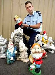 gnome napped 18 gnomes and a duck are being held custody at werribee police station