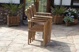 paris 6 seater teak garden furniture set