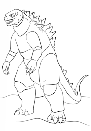Godzilla Monster Coloring Page Free Printable Coloring Pages