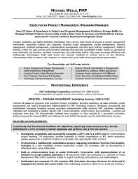 Cover Letter Template For Resume Examples Project Manager Pmp