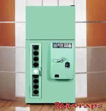 Vending Machine Wraps Magnificent Vintage Green Vending Machine Refrigerator Wraps Rm Wraps