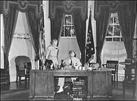 desk in oval office. Franklin D. Roosevelt Seated At The Hoover Desk In Oval Office
