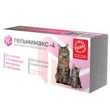<b>Антигельминтик Apicenna Гельмимакс-4 для</b> взрослых кошек и ...
