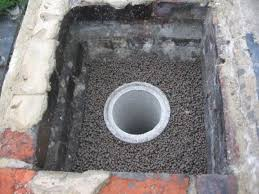flue liner surrounded with leca clay pellets