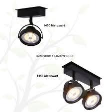 Home Industriële Spots Plafond Spotlight Dubbel Led Mat Wit 1451w