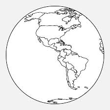 Map Of North And South America Vector Outline Map Of South America