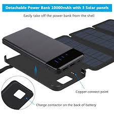 HomeShopSmartphone AccessoriesSolar Chargers Solar Charger 10000mAh, ADDTOP Portable with Detachable