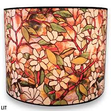 Royal Designs Handmade Lamp Shade Made In Usa Magnolia Stained Glass Design 10 X 10 X 8