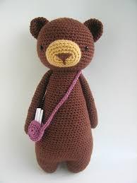 Crochet Bear Pattern Mesmerizing Tall Bear With Bag Amigurumi Pattern Amigurumipatternsnet