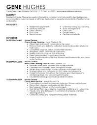 House Cleaning Resume Present Day Print Residential Cleaner