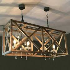 anmytek square metal and wood chandelier lighting city home furniture ideas lamp