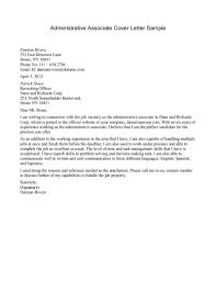 Sales Associate Cover Letter Resume Badak Administrative Sample