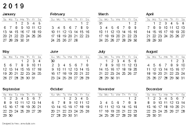 2019 Calendar Printable By Month Free Printable Calendars And Planners 2019 2020 And 2021