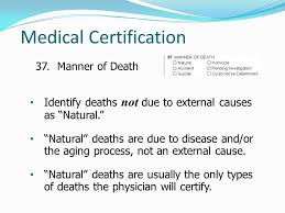 Types Of Medical Certifications Medical Certifiers Guide For Completing Iowas Certificate Of Death