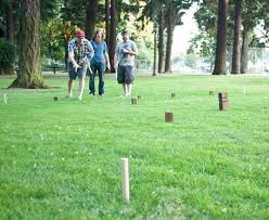 Lawn Game With Wooden Blocks DIY KUBB Kubb pronounced [kʉb] in Swedish or in is a lawn game 14