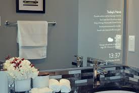 bathroom mirror reflection. Making Your Bathroom Intelligent: Smart Reflection Mirror D