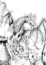 Coloring The Hobbit Coloring Page Dragon Hole Pages The Hobbit