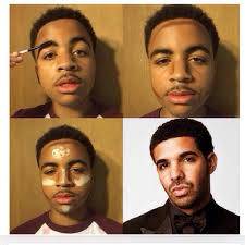 guys have decided to try out their own four panel makeup transformation pictures