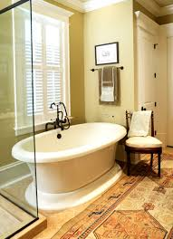 Master Bath With Cream Painted And Glazed Cabinets Decorative - Decorative bathroom faucets