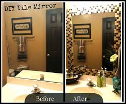 Project Sapphire DIY Tile Mirror HOLY MOLY I May Be Doing This - Trim around bathroom mirror