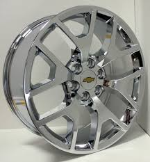 All Chevy chevy 22 inch rims : New Set 4 Chrome 22