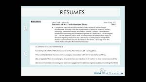Resumes Updating Your Resume Cover Letter Digital Profile Youtube