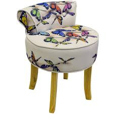 Furniture: Wonderful Vanity Stool With Wheels For Alluring Home ...