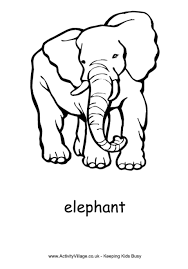 Elephant Colouring Pages Coloring Home