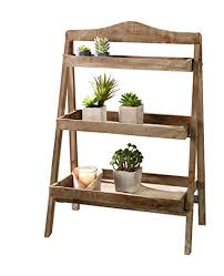 com foldable wooden plant stand for outdoor or greenhouse complete stands liveable