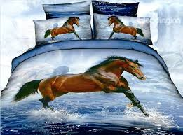 horse quilt bedding set horse quilts bedding new arrival 3d steed horses in water 4 piece