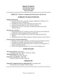 Shipping And Receiving Resume Examples Good Warehouse Shipping Resume Shipping And Receiving Resume 6