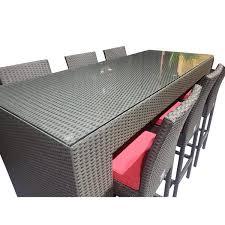 wd patio outdoor bar wicker aluminum