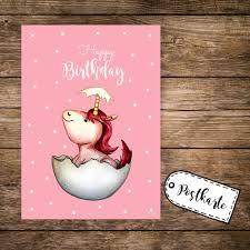 A6 Postkarte Grußkarte Karte Print Illustration Geschlüpftes Baby