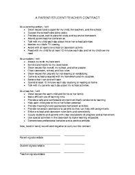 classroom rules template parent student teacher contract template education world