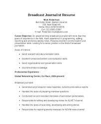 Journalism Resume Examples Journalist Resume Example Fabulous