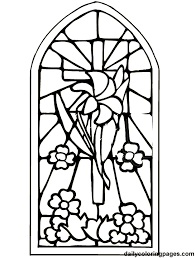 Cross Stained Glass Coloring Pages Clipart Best Stained Glass Cross