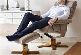 massage chair and footstool. fully reclined. gfa - exmouth massage swivel recliner chair \u0026 footstool and r