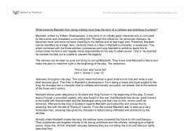 macbeth critical essay co macbeth critical essay