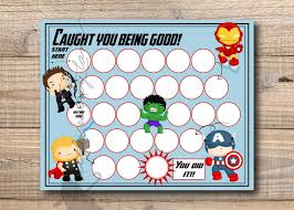 Reward Chart Super Hero Reward Chart By Lettersanddesigns
