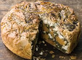 ernut squash mild feta spinach and filo pie recipe veggie magazine