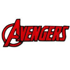 Toppe termoadesive - AVENGERS Logo comico bambini – rosso – 9,5x4cm ...