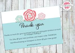 Business Thank You Card Template Order Insert Cards Printable Etsy Shop Cards Package Insert 24